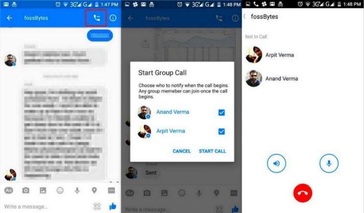 facebook group call