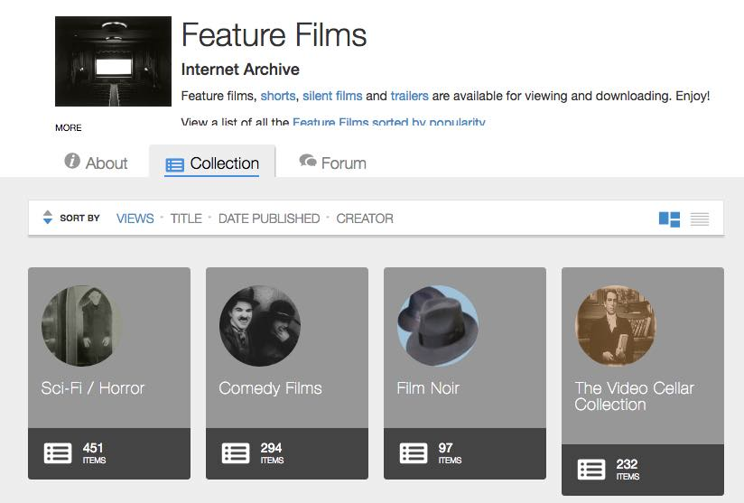 internet archive free feature films