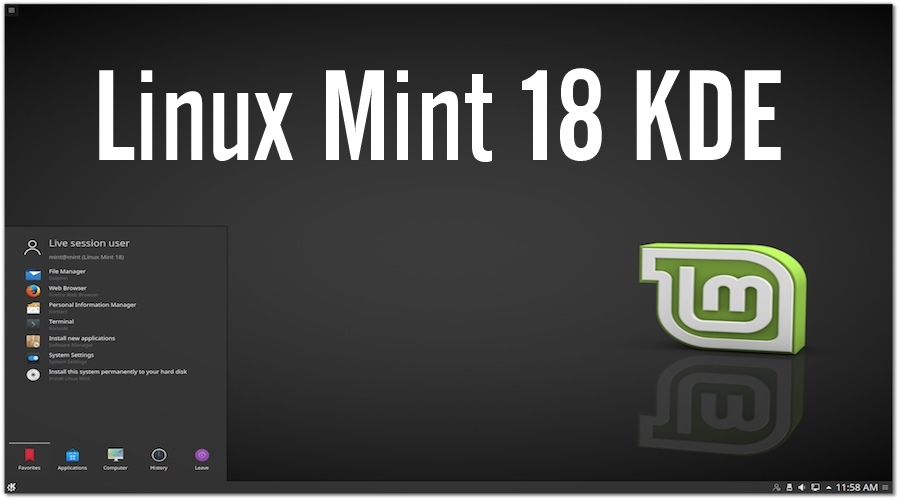 Linux Mint 18 Sarah KDE Edition Beta Released  Download