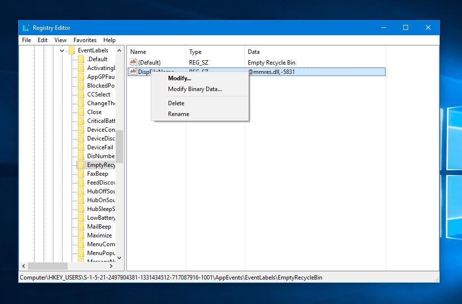 реестр Windows удалить