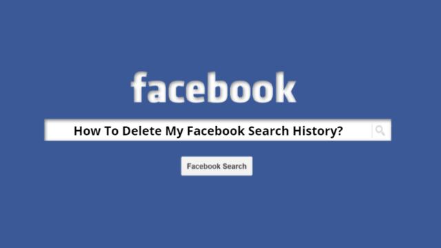 Delete Facebook Search History Main
