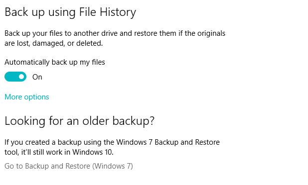 FH3 Windows File History