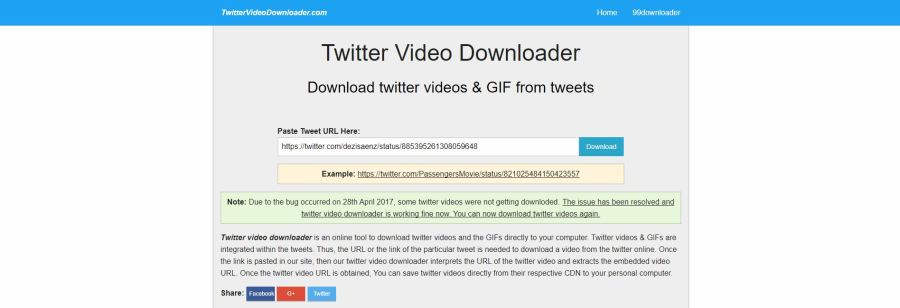 TwitterVideoDownloader Download Twitter Videos