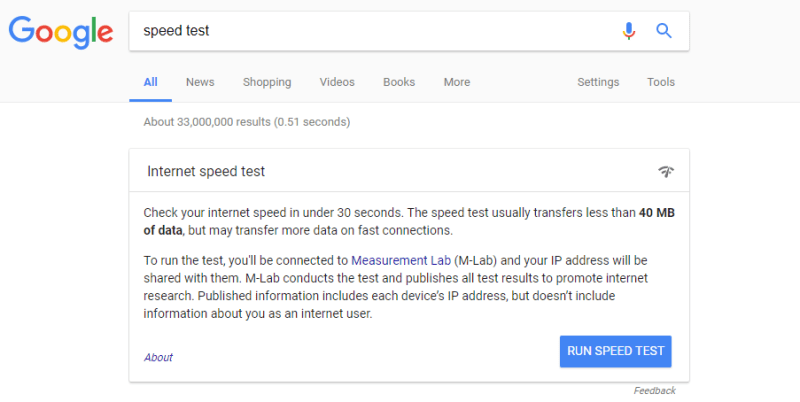 Google speed test tool 3
