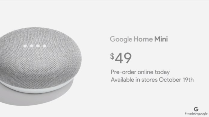 Event Google Pixel 2: Google Luncurkan Home Mini