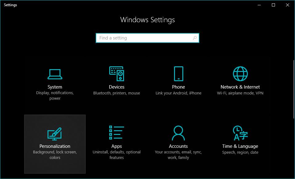 Nonaktifkan Desain Mutu Windows 1