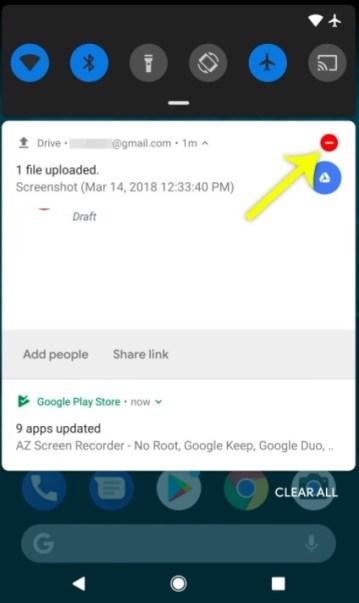 Saluran notifikasi Android P