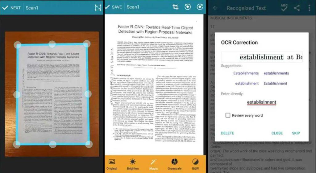 8 Free & Best Android Scanner Apps Of 2018 To Save Documents In High