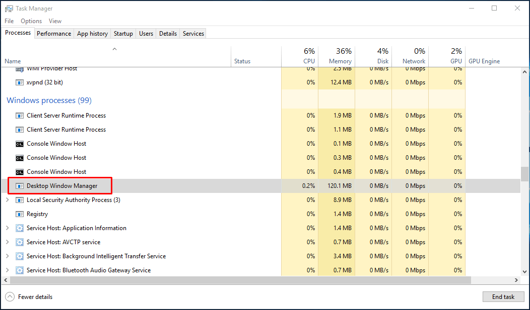 dwm.exe windows 7 location