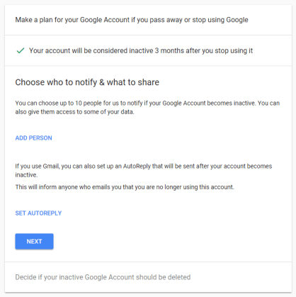 Delete Google Account After Death 5