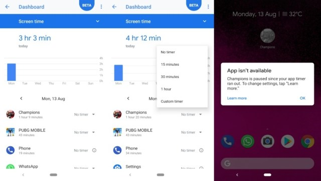 Android Pie App timers