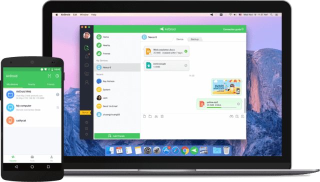 AirDroid Share files from Android to PC wirelessly