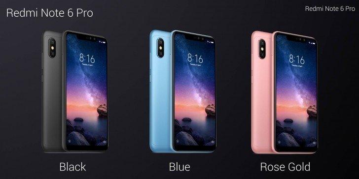 Xiaomi Redmi Note 6 Pro_colors