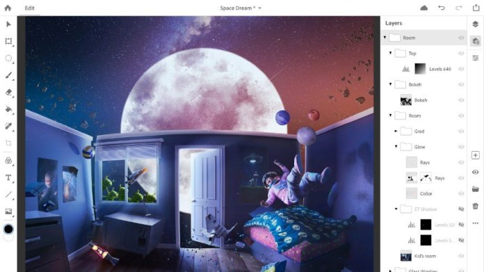 Photoshop CC di Antarmuka Baru iPad