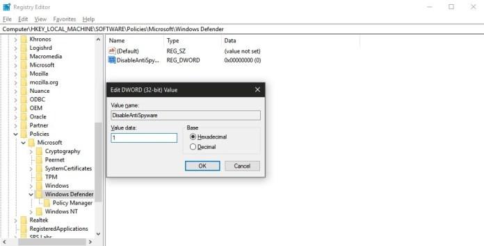 Cara Nonaktifkan Windows Defender