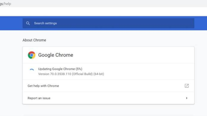 Chrome Build 71