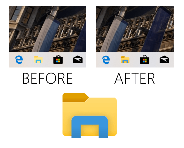 File Explorer di Build 18298