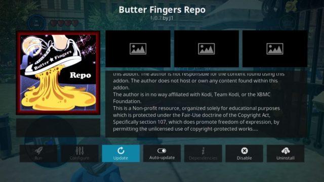 Dedos de manteiga Kodi repo