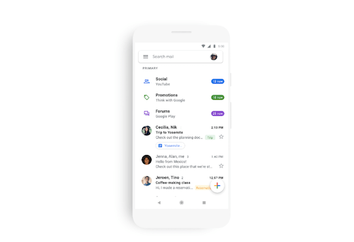 Google Is Pushing Out A Design Overhaul For Gmail On Mobile