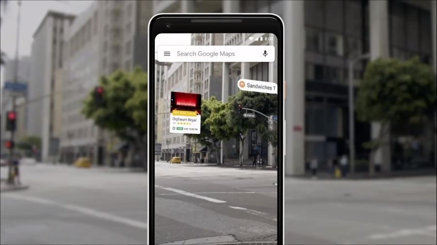 Google Maps AR di Google io