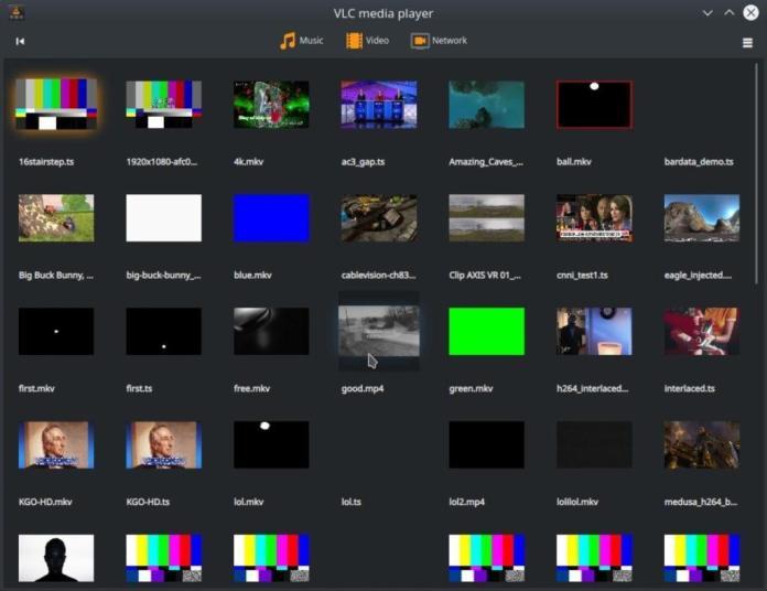 Perpustakaan media VLC