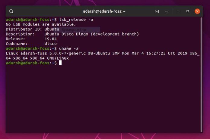 ubuntu 19.04 linux kernel 5.0
