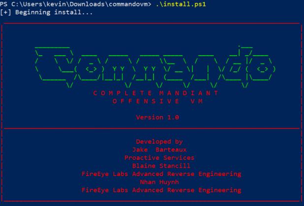 windows commando vm hacking distro install script