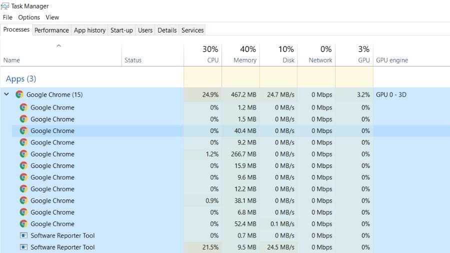 Google Chrome Software_Reporte_Tool