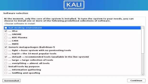 boîte de dialogue environnement de bureau kali linux télécharger et installer Kali Linux 2020.1
