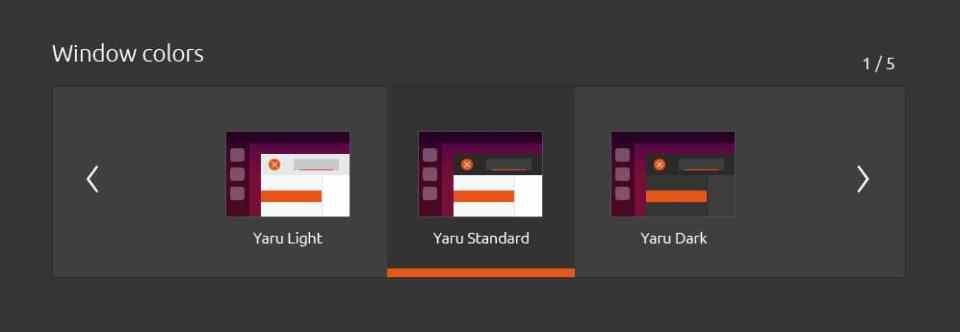 ubuntu yaru theme baru