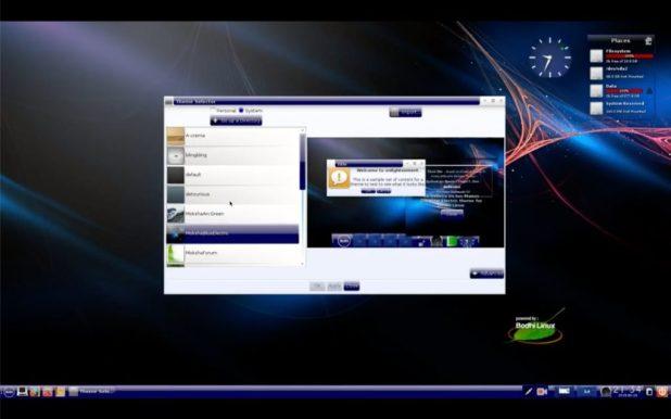 Thème bleu Bodhi Linux 5.1 Moksha