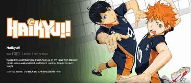 Haikyu best anime Netflix