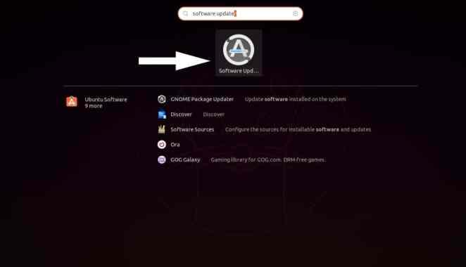 Pesquisar atualizador de software