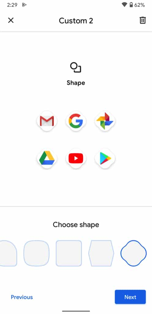 Ikon baru membentuk Android 11 DP4