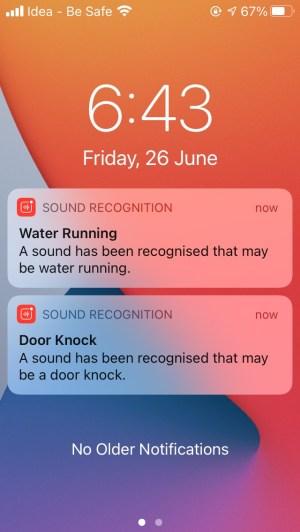 IOS 14 вода, бегущая дверь, стучит уведомление