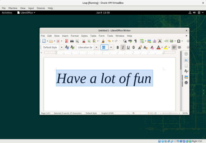 LibreOffice 6.4 No GNOME Leap 15.2
