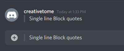 Single line Discord quote text