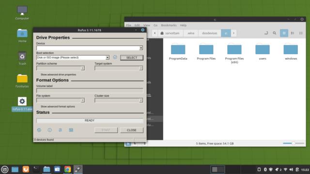 Running Windows app