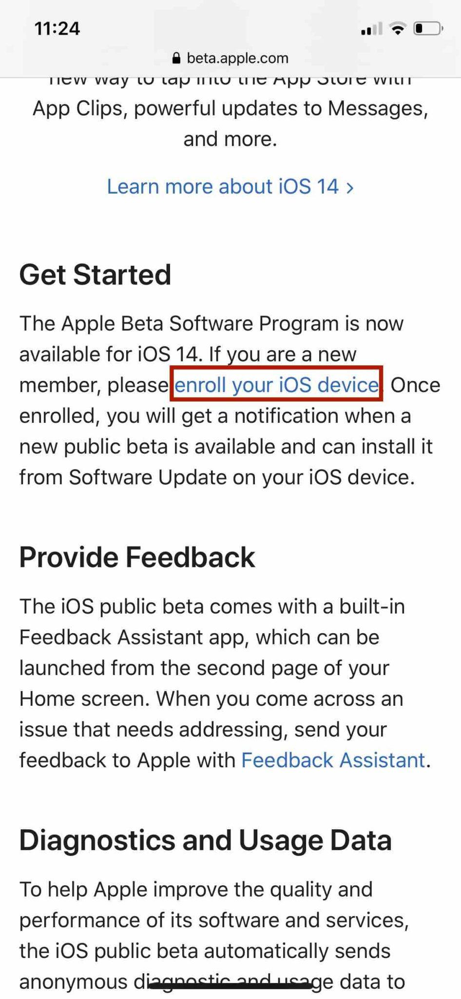 Публичная бета-регистрация iOS 14