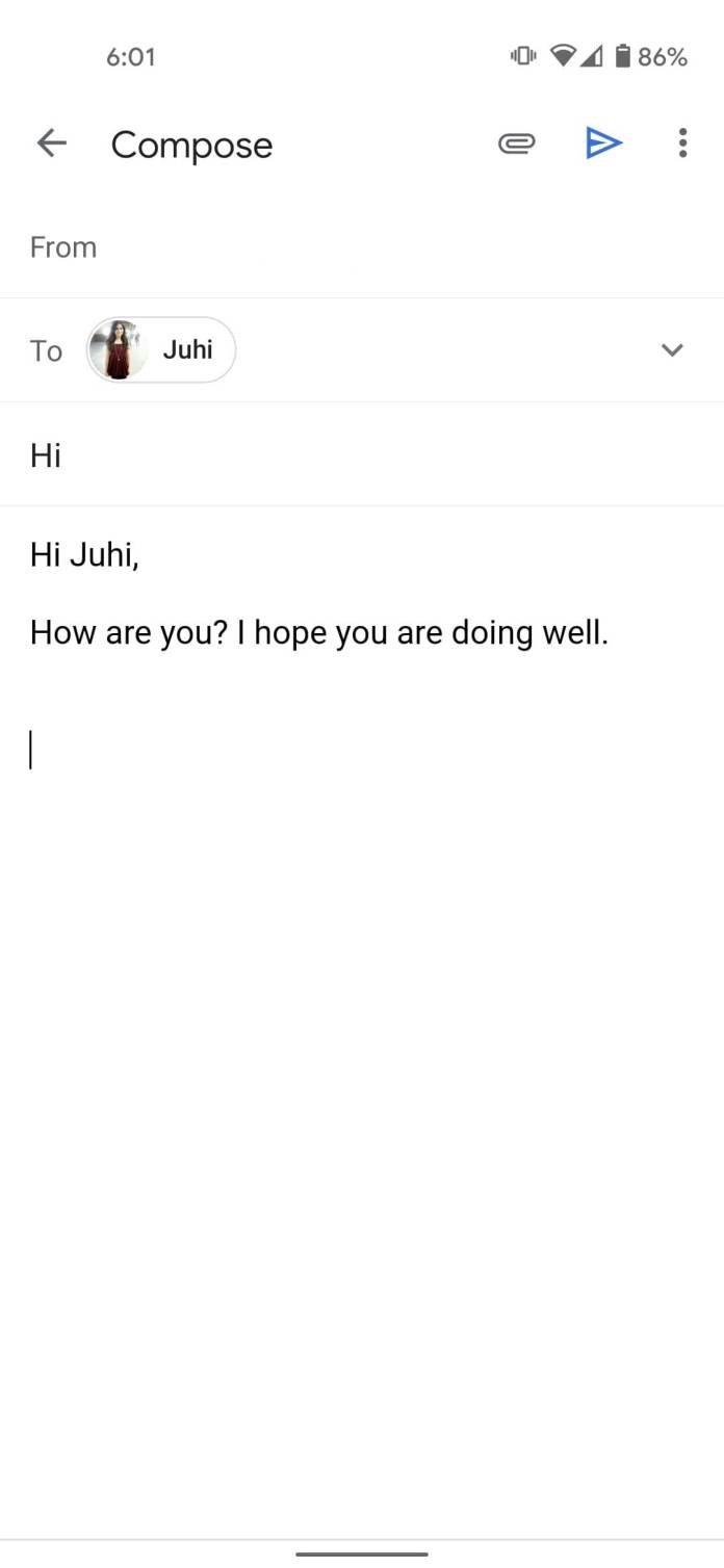 Compose email in gmail android and iOS