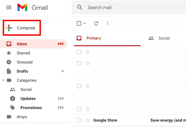 Gmail Compose email
