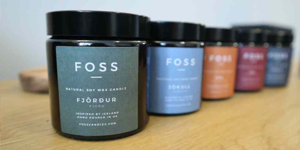 The Foss Natural Soy Candle Family