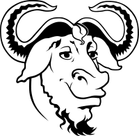 gnu logo for gnu/linux