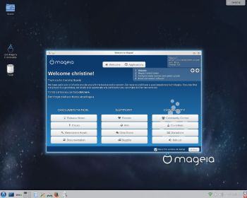 Mageia first screen.
