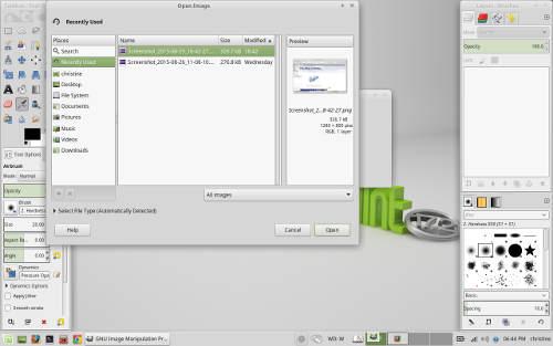 Linux Mint 17.2 Xfce GIMP