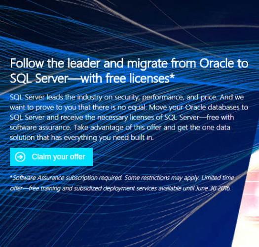 Microsoft seeking Oracle customers