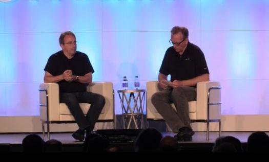 Linus Torvalds, Dirk Hohndel, LinuxCon 2016