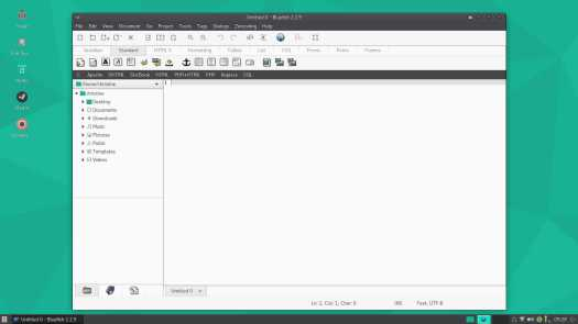 Manjaro Bluefish text editor