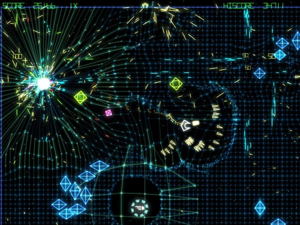 Grid Wars - a Free Arcade Shooter Game, free version of Geometry Wars