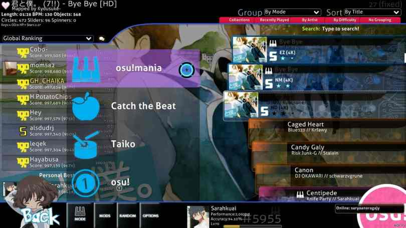 osu! - another Freeware Rythm Game for PC